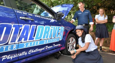 Total Driver school Driver education programs include vehicle maintenance, team building and practical skills in changing a tyre and road side maintenance.